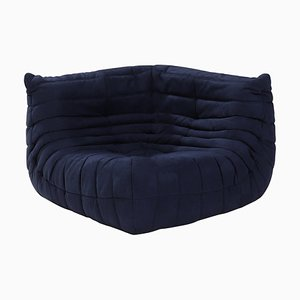 Togo Dark Blue Corner Sofa by Michel Ducaroy for Ligne Roset