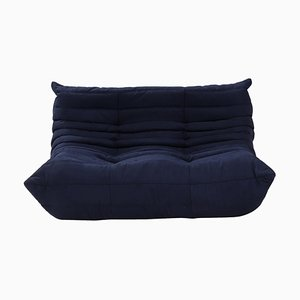 Togo Dark Blue Modular Two Seater Sofa by Michel Ducaroy for Ligne Roset