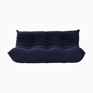 Togo Dark Blue Large Sofa by Michel Ducaroy for Ligne Roset