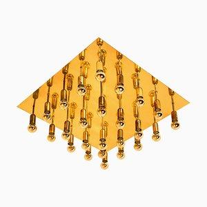 Große Geometrische Wandlampe oder Deckenlampe im Sciolari-Stil, 1970er