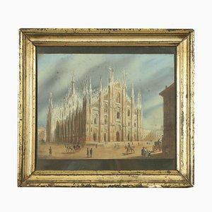 The Duomo Di Milano, Guazzo su carta, inizio XIX secolo
