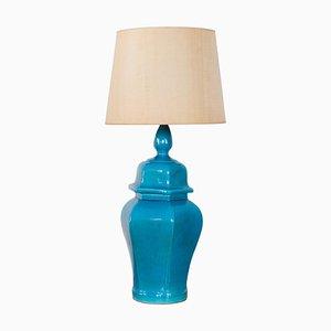 Blaue Tischlampe, Italien, 1970er