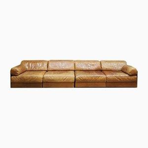 Mid-Century DS76 Swiss Vintage Design Leather Modular Sofa from de Sede