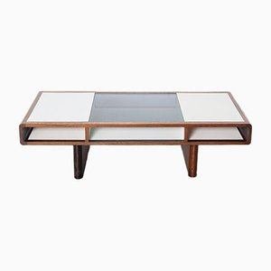 Coffee Table with Dark Wood Edging