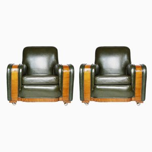 Art Deco Tank Chairs, Set of 2