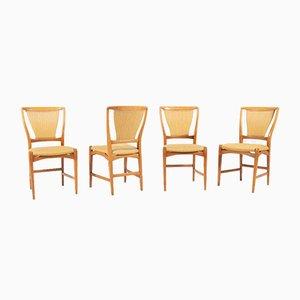 Ahornholz Frame Stühle von David Rosen für Nordiska Kompaniet, 1960er, 4er Set