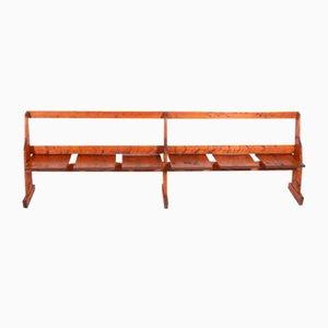 Scandinavian Solid Pine Bench, 1960s