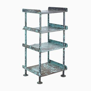 Industrial Painted Shelving Stand, 1920s