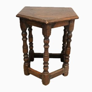 French Oak Cantors Stool, 17th Century
