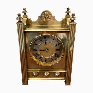Orologio antico da otto ore in ottone antico di qualità
