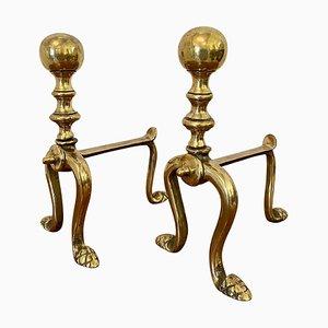 Set da cucito originale vittoriano in ottone, set di 2