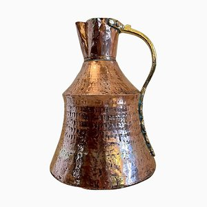 Antique Arts & Crafts Copper and Brass Milk Jug
