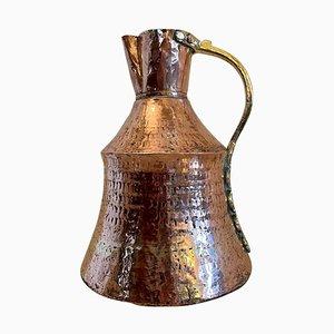 Pichet à Lait Antique Arts & Crafts en Laiton et Cuivre
