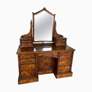 Antique Victorian Burr Walnut Dressing/Vanity Table from Maple & Co.