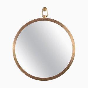Specchio con cornice in ottone di Lukasz Friedrich