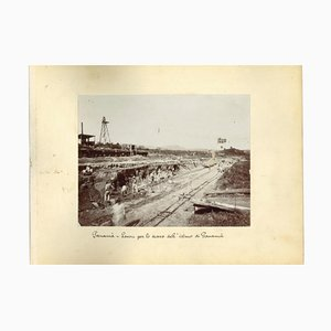 Unknown, Ancient Views of Panama and the District of Colon, Vintage Photo, Set of 2