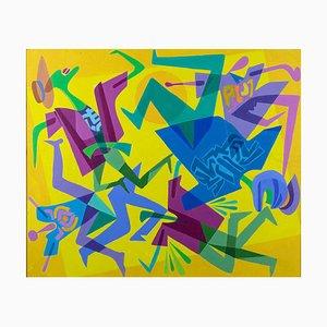 Leo Guida, Accident, Original Acryl auf Leinwand, 1992