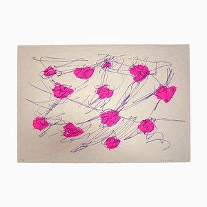 Giulio Turcato, Abstract Composition, Original Screen Print, 1970