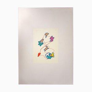 Giulio Turcato, Abstrakte Komposition, Siebdruck, 1970er