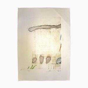 Hsiao Chin, Abstrakte Komposition, Originale Radierung, 1977