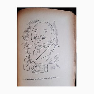 Hedwig Courths-Mahler, Book Illustrated by George Grosz, 1922