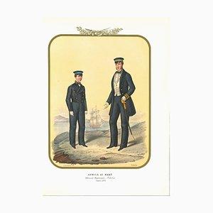 Antonio Zezon, Marine: Seefahrt Studenten, Originale Lithographie, 1855
