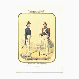 Antonio Zezon, Marine: Marine Handwerker, Originale Lithographie, 1855