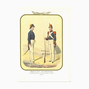 Antonio Zezon, Navy: Navy Craftsmen, Original Lithograph, 1855