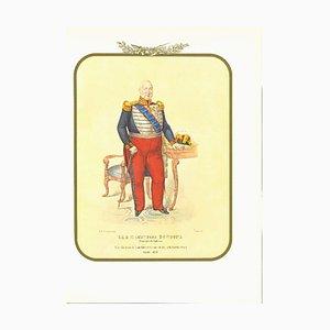 Antonio Zezon, Leopoldo Borbone, Original Lithograph, 1853