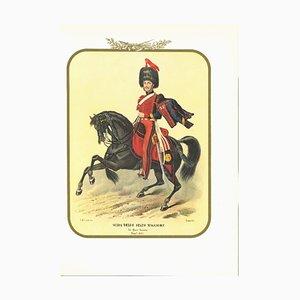 Antonio Zezon, Leadership of the General Staff, Original Lithograph, 1854