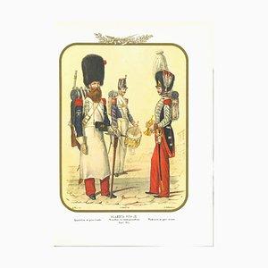 Litografia originale di Antonio Zezon, Real Guard, 1852