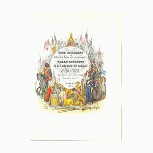 Antonio Zezon, Frontispiz der Royal Army, Originale Lithographie, 1850