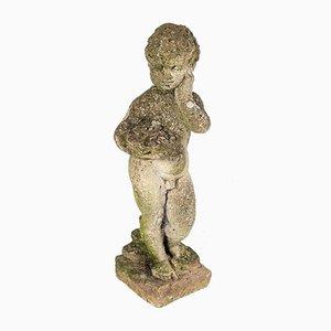 Putti Weathered Garden Statue