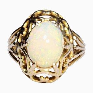 2.10 Karat Opal 18 Karat Roségold Ring, 1960er