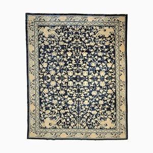 Blau & Weißer Phoenix Fleale Teppich, 1870er