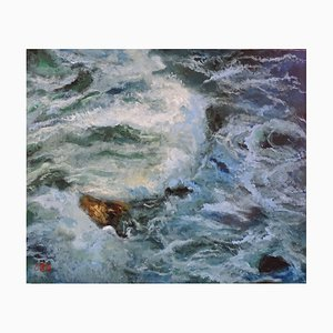 Evelyne Barbier, The Wave of Biarritz, 2020