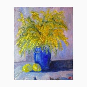 Evelyne Barbier, Fleurs de Mimosa, 2021