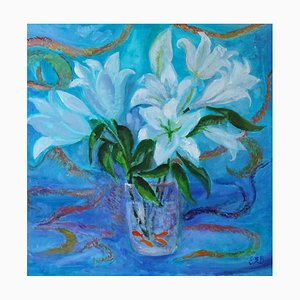 Evelyne Barbier, Lilies and Fish, 2020