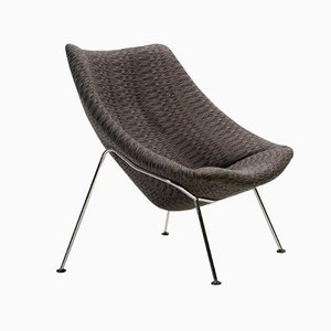 Large F157 Oyster Lounge Chair by Pierre Paulin for Artifort, 1980s,