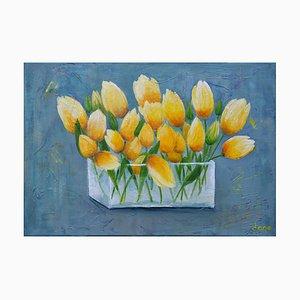 Dany Soyer, Les tulipes jaunes, 2021