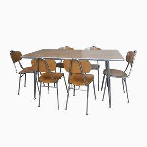 Italienisches Formica Tisch und Stühle Set, 1960er, Set of 7