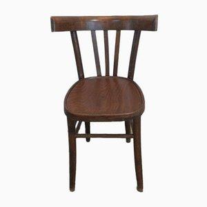 Italienischer Buchenholz Stuhl, 1950er