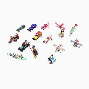 Blechspielzeug Modellautos, 1990er, 15er Set