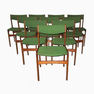 Mid-Century Esszimmerstühle von Erik Buch, 10er Set