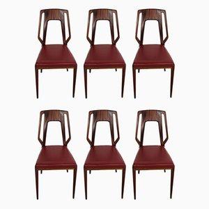 Italian Chairs by Vittorio Dassi, Set of 6