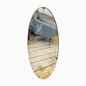 Italian Art Deco Engraved Wall Mirror by Luigi Brusotti, 1940s