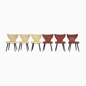 Chairs with Leatherette Upholstery from Thonet, 1950s, Set of 6