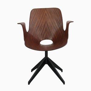 Chaise de Bureau Pivotante Medea par Vittorio Nobili, Italie, 1950s