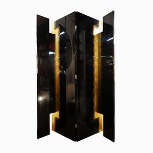 Pacific Compagnie 4, Folding Screen, Black Lacquer and Golden Leaf
