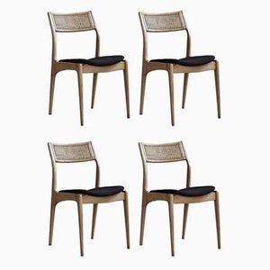 Esszimmerstühle mit Kvadrat Bezug von Edmund Homa für Gościcińskie Fabryki Mebli, 4er Set